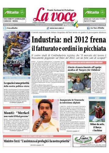 21 FEBBRAIO 2013 - La Voce d'Italia