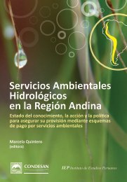 Servicios Ambientales Hidrológicos en la Región Andina - InfoAndina