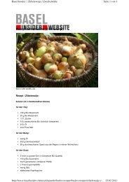 Rezept Zwiebelwähe (Ziibelewaije)