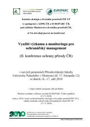 II. konference ochrany přírody ČR