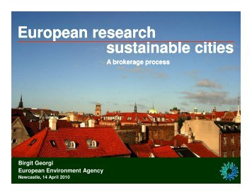 sustainable sustainable cities European research - Informed Cities