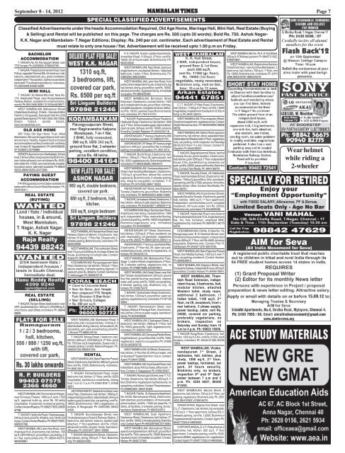 Page 6 CLASSIFIED ADVERTI