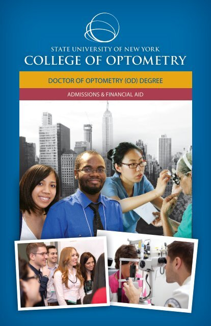 Admissions & Financial Aid Brochure - SUNY College of Optometry