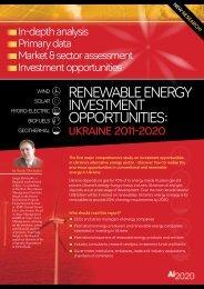 reneWaBle enerGy InVeStMent oPPortunItIeS: - Ukraine Business ...