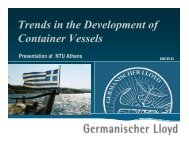 Trends in the Development of Container Vessels