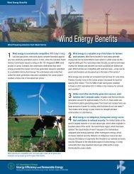 Wind Energy Benefits: Wind Powering America Fact Sheet Series