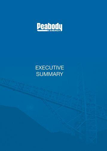 EXECUTIVE SUMMARY - Peabody Energy
