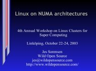 Linux on NUMA architectures - NSC