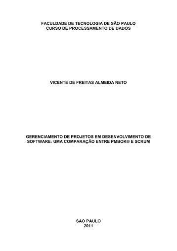Gerenciamento de Projetos em Desenvolvimento de Software - Fatec