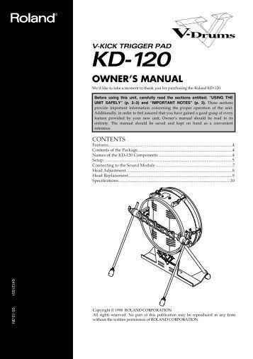 Owner's Manual (KD-120_OM.pdf) - Roland