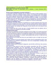DYSTROPHIE MUSCULAIRE DE BECKER Autres ... - ASRIM