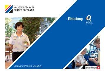 Persönliche Einladung - Volkswirtschaft Berner Oberland