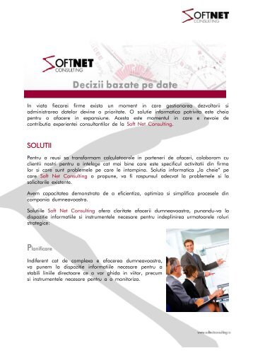 Click pentru download brosura - Soft Net Consulting