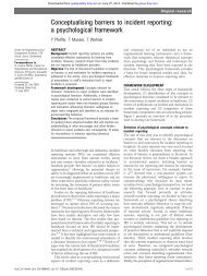 Conceptualising barriers to incident reporting - BMJ Quality and Safety