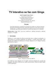 TV Interativa se faz com Ginga - Telemidia - PUC-Rio