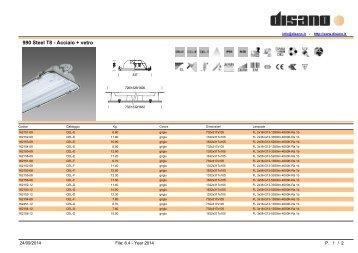 990 Steel T8 - Acciaio + vetro - Disano Illuminazione