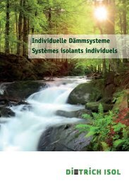 Individuelle Dämmsysteme Systèmes isolants ... - Dietrich Isol AG