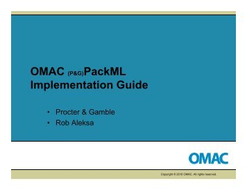 OMAC PackML Implementation Guide - ARC Advisory Group