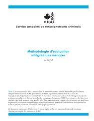 Méthodologie d'évaluation intégrée des menaces - Service ...
