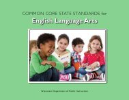 English Language Arts - Wisconsin Standards