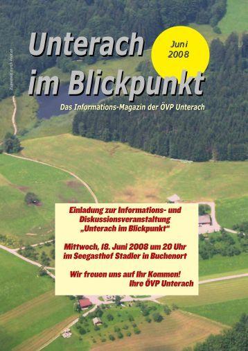 Ausgabe Juni 2008 - (ÖVP) Unterach am Attersee