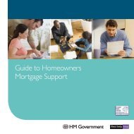 Guide to Homeowners Mortgage Support