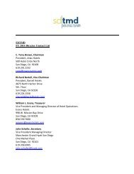 SDTMD FY 2014 Director Contact List C. Terry Brown, Chairman ...