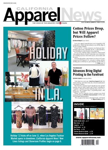 3.50 VOlUMe 68, nUMber 24 JUne 8–14  - California Apparel News