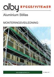 Monteringsveiledning ALBY Stillas - Byggesystemer