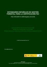 estándares españoles de gestión forestal para la certificación fsc