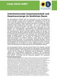 Interkommunale Zusammenarbeit - Heide Rühle