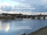 RHIC LHC - rencontres de blois