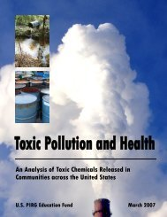 An Analysis of Toxic Chemicals Released in Communities across ...
