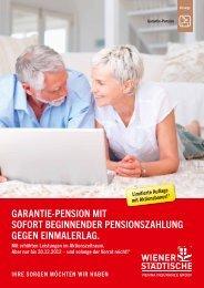 GARANTIE-pENSION MIT SOfORT ... - Wiener Städtische