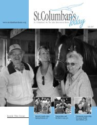 Inside This Issue: - St. Columban's on the Lake Retirement Home
