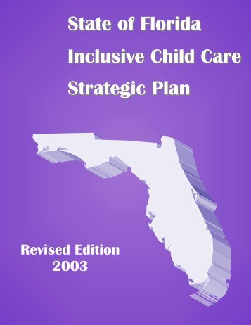 State of Florida Inclusive Child Care Strategic Plan