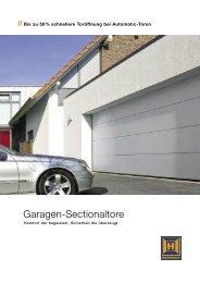 Garagen-Sectionaltore - Bauelemente Wondberg KG