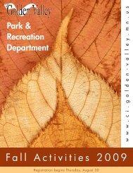 Recreation Department - City of Golden Valley