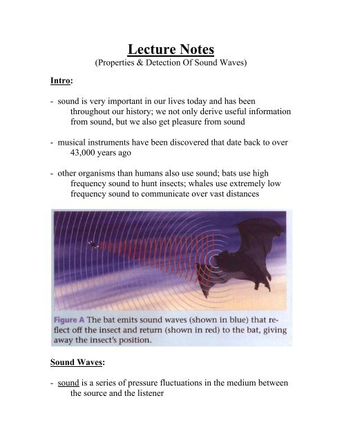 Lecture Notes (Sound Waves) - Dickey Physics