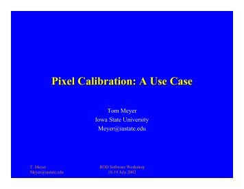 Pixel Calibration: A Use Case - CERN