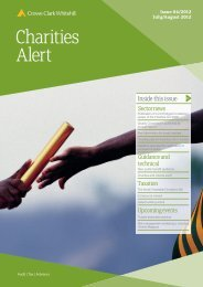 Charities Alert July/August 2012 - Crowe Horwath International