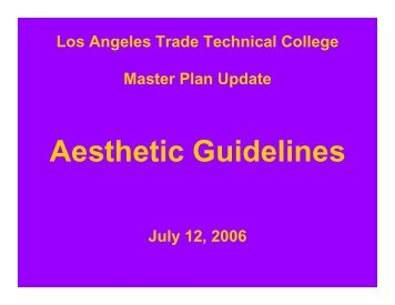 Aesthetic Guidelines - Build LACCD