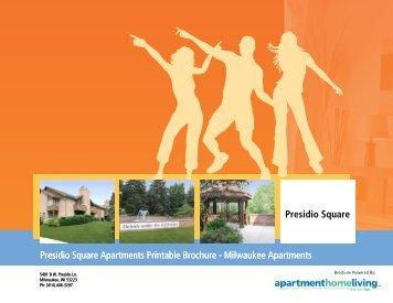 Presidio Square Apartments Printable Brochure - Apartments For Rent