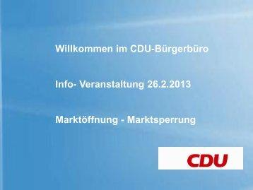 Willkommen im CDU - Bürgerbüro - CDU Steinfurt