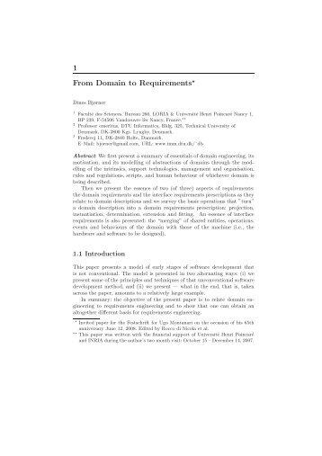 the Ugo Montanari Festschrift paper - DTU Informatics