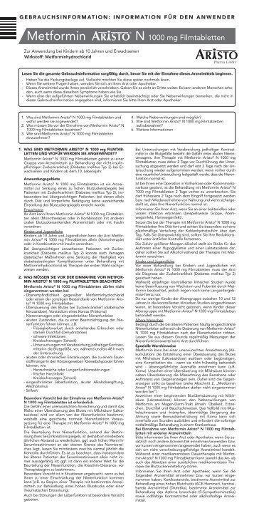 Metformin - Aristo Pharma GmbH