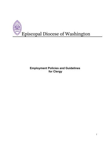 Clergy Personnel Guidelines - the Episcopal Diocese of Washington