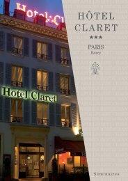 3 volets se minaires Claret - Hotels Paris - Logis