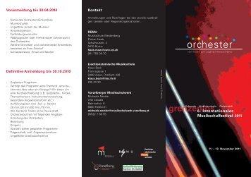 Folder Neujahrsjazz 2007 - Musikschulwerk