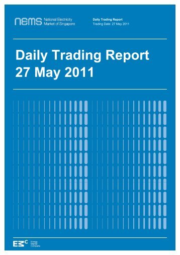 Daily Trading Report 27 May 2011 - EMC - Energy Market Company